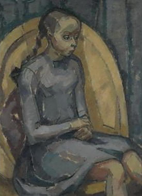 Jessica Dismorr, Portrait d'une jeune fille, 1913