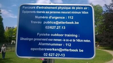 [Ecole] Inaugauration d'un parcours santé dans le parc de notre école (suite)