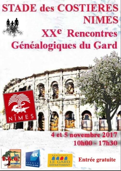XXème Rencontres Généalogiques du Gard – Nîmes (34)