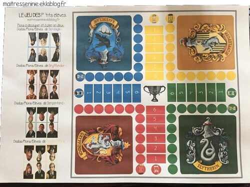 Jeu de petits chevaux version Harry Potter