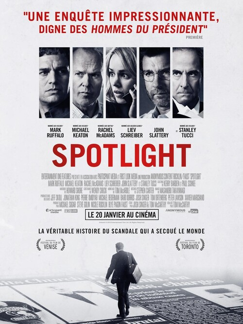 "Bonsoir a l'honneur : "" Spotlight """