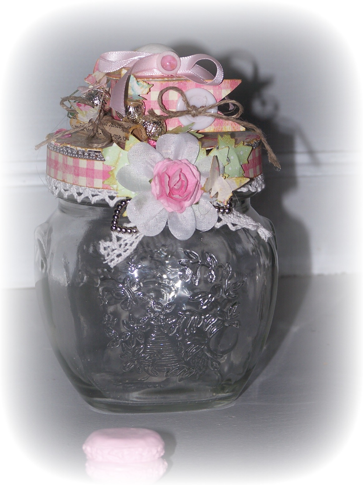 Un petit pot de confiture customis nadinescrap - Petit pot confiture ...