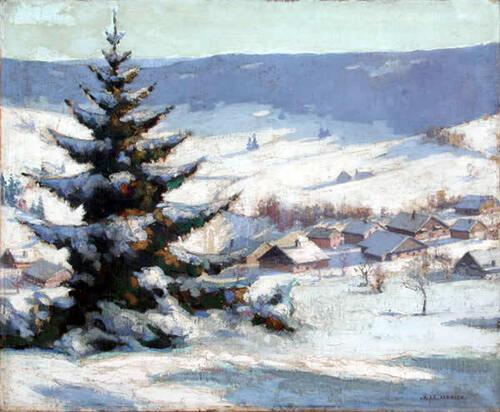 Robert Fernier le peintre de la neige