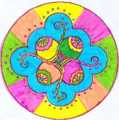 mandala joyeuses pâques