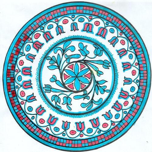 DOMANDALAS  mandala rouge et bleu 1