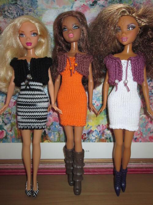 Robes bustier et boléro pour barbie