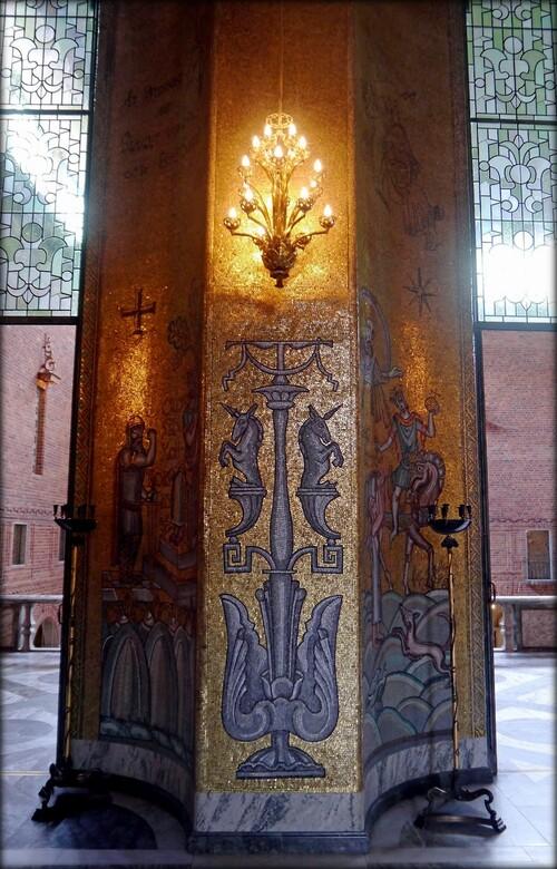 Mozaïques de la salle d'or par Einar Forset