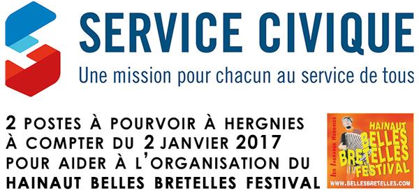 Service civique à Hergnies