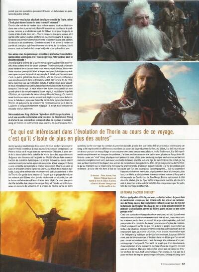 Interview de Richard dans le magazine 'L'écran fantastique', décembre 2013