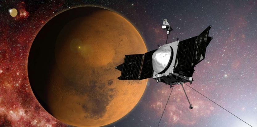 La sonde Maven, entrée en orbite de Mars, le dimanche 21 septembre. ( AP / SIPA )