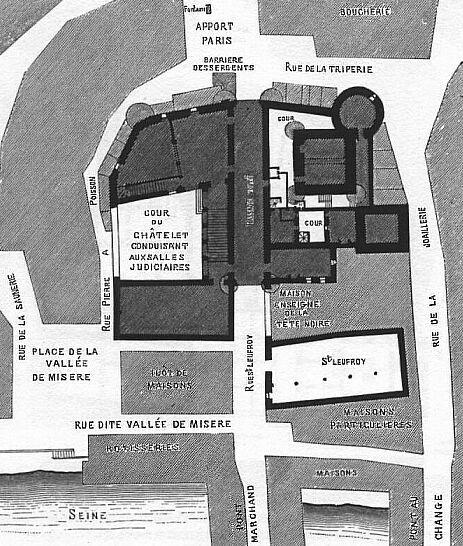 Grand Châtelet, plan  antérieur à 1621