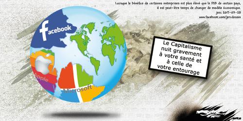dessin de JERC mardi 28 mars 2017 caricature monde capitaliste Il suffit que les gens n'achètent plus pour que ça ne se vende pas. Coluche www.facebook.com/jercdessin
