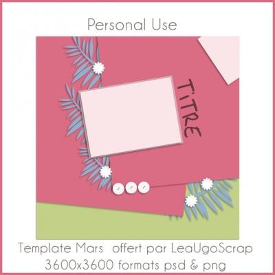 LeaUgoScrap offre un splendide template !