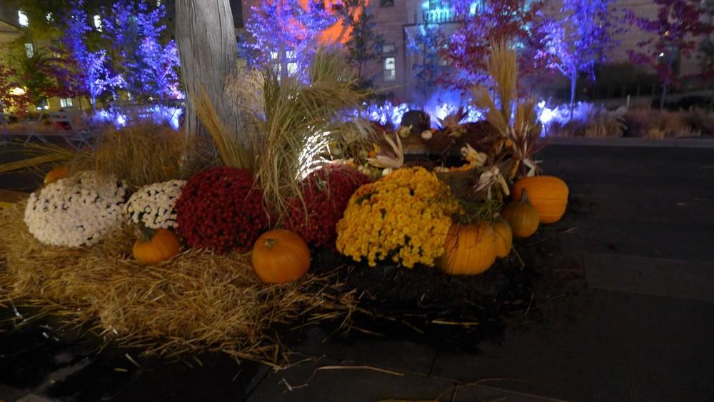 Fête de Thanksgiving et préparation d'Halloween au Canada...