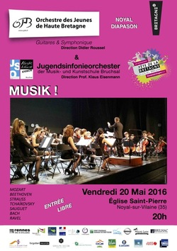 - 20/05/2016 : Concert OJHB ET Jeunes de Bruchsal