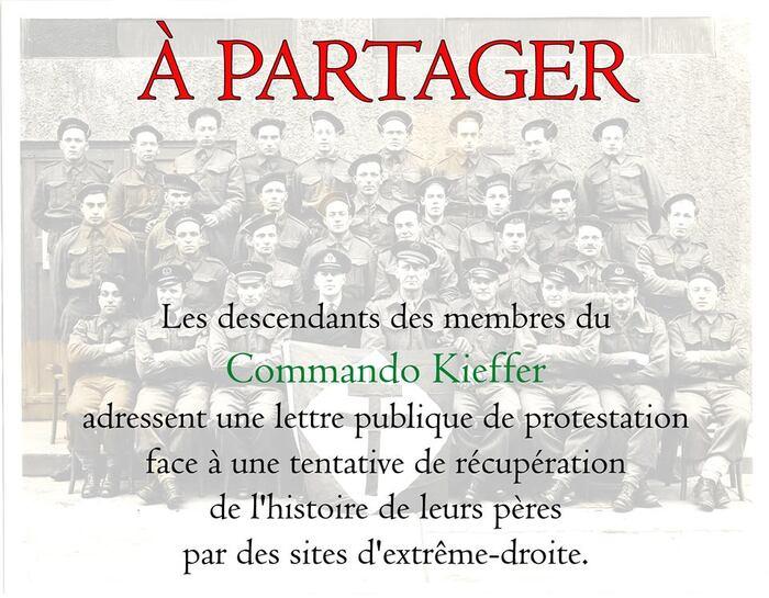 ROMANS-SUR-ISÈRE  Descendants du commando Kieffer  ils s'insurgent contre un site  d'extrême-droite