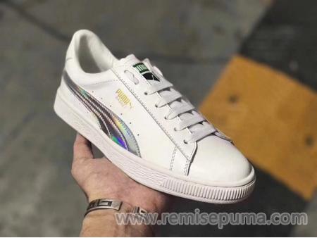 8a70bad6c361 3 ce Puma Homme-Chaussures Puma Homme Puma Suede Classic Basket LFS blanche  argente couleur ...