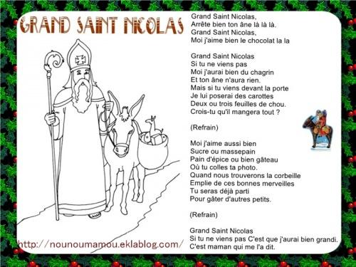 Comptine illustrée : Grand Saint Nicolas