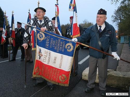 """*  """"Hommage et Mémoire"""" au Monument du 22ème BMNA à Éboulet, puis à la stèle du Général Diégo Brosset"""