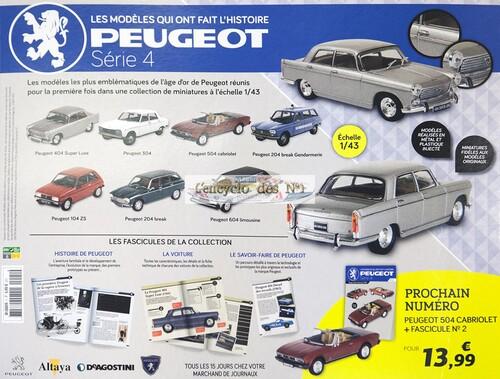 N° 1 Les modèles qui ont fait l'histoire Peugeot série 4 - Test