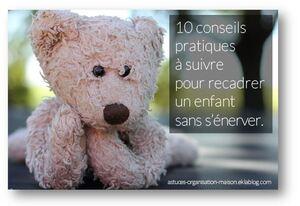 ✿ 10 conseils pratiques pour recadrer un enfant sans s'énerver