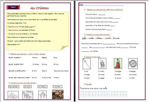 Un monde à lire CP : adaptation du fichier n°2 pour élèves en difficultés