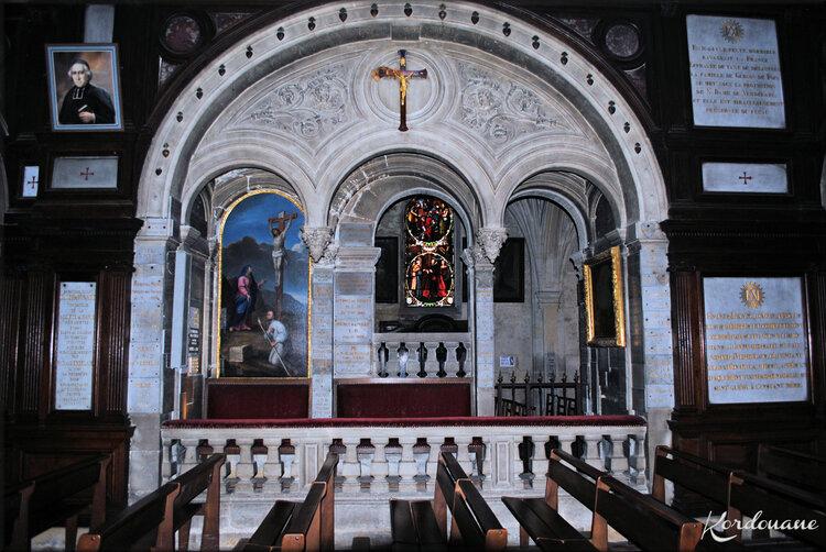 Photo banc d'oeuvre Notre Dame de Verdelais