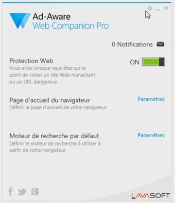 Ad-Aware Web Compagnon Pro - Licence gratuite