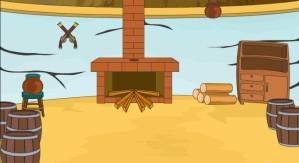 Escape from hut