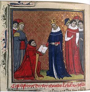 21-Charles IV le Bel et messager