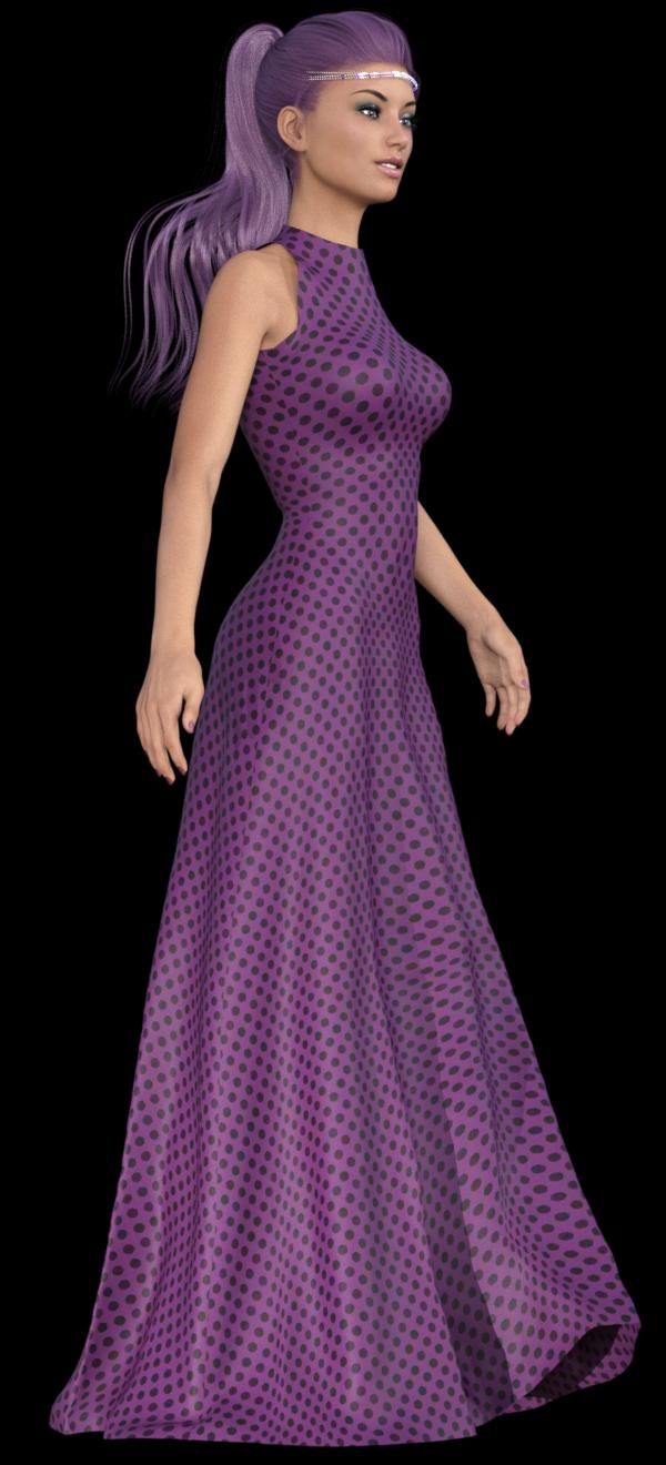 Tube femme en robe longue (image-poser)