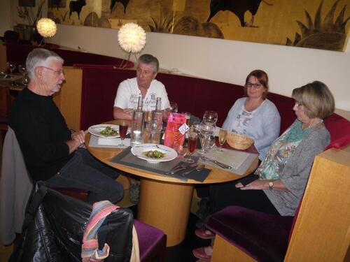 Avec Jocelyne, Nathalie et Bernard