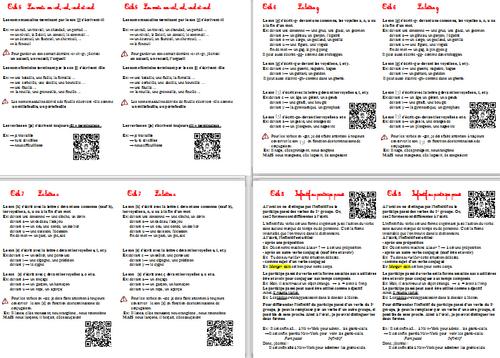 Leçons d'Orthographe CM1 avec QR Codes