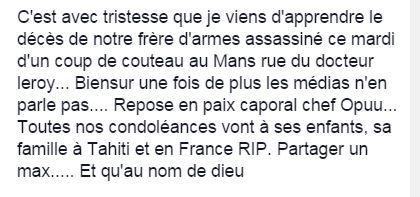 hommage Facebook de Christophe Guerinau