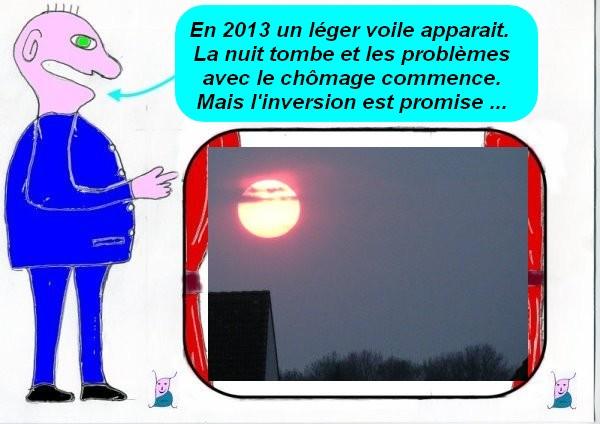 Le quinquennat de Hollande c'est comme un coucher de soleil !
