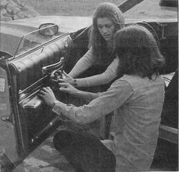 Mai 1974 : le cadeau d'anniversaire de Sheila à Ringo.