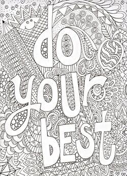 Coloriages mots et pensées positives en Anglais