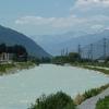 Le Rhône dans le Valais avec ton cours rectifié