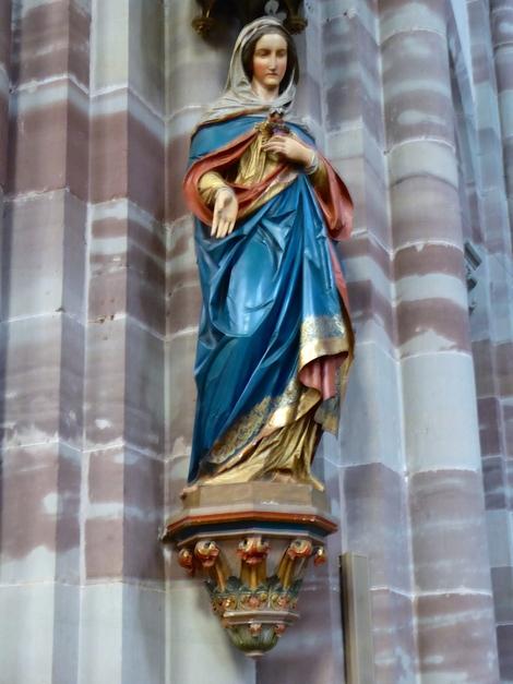 L'église St Pierre St Paul d'Obernai.