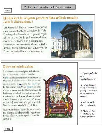 H2 - la christianisation de la Gaule Romaine