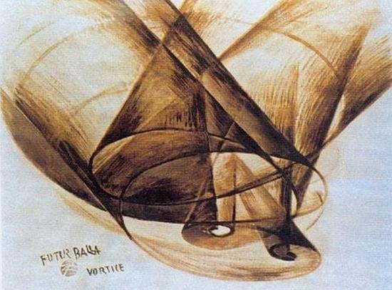 Giacomo Balla, Vortice, 1914