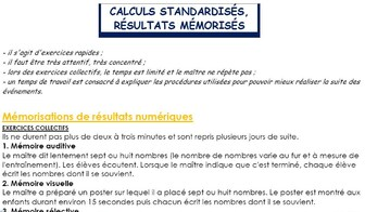 Ermel calculs standardisés