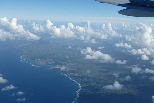 la Guadeloupe vue du ciel
