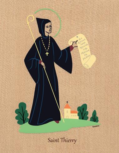 Plaquettes de Saint - Thierry - plaquette laminage - La boutique des prénoms