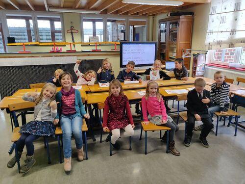 Saint Nicolas vient à l'école :-)