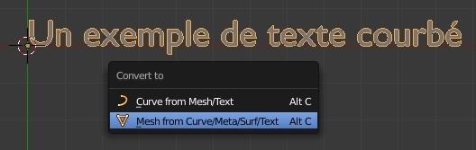 Convertir du texte en maillage
