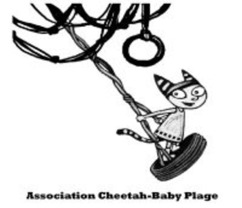 association cheetah-baby plage