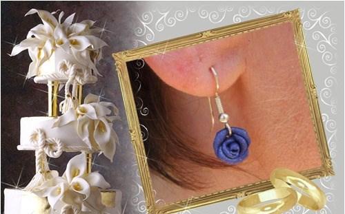 Boucles d'oreilles de mariée réalisées par Sylvie Le Brigant - Boucles d'oreilles mariage