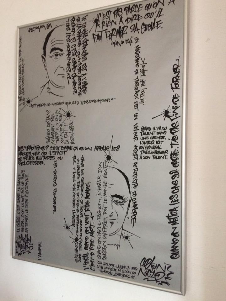 Audiard citations. 50x70cm