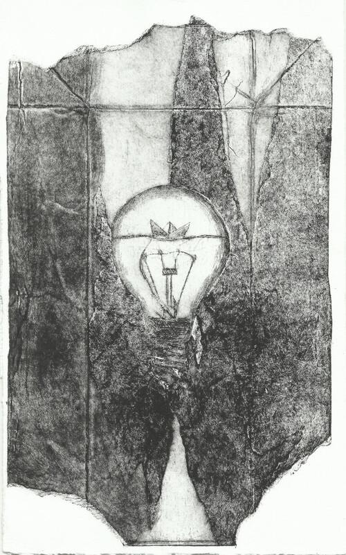 Ampoule, gravure et tétrapack